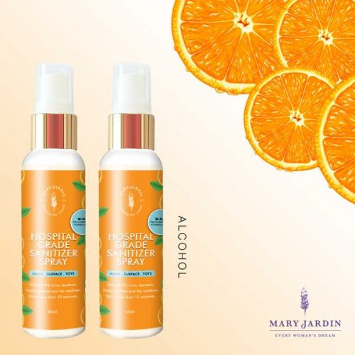 [TWIN PACK] Orange ALCOHOL Sanitizer Spray 60ml 2 mock sanitizer alcohol twinpack | Mary Jardin