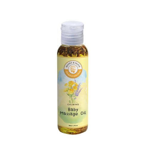 [25+1 Containers] Botanical Infused Baby Massage Oil (50ml) 2 Mock Massage Oil | Mary Jardin